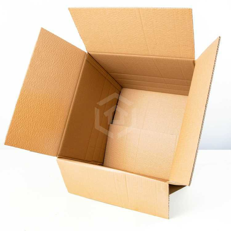 large moving boxes overhead inside