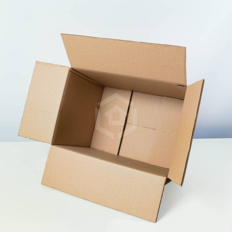 small moving boxes overhead inside