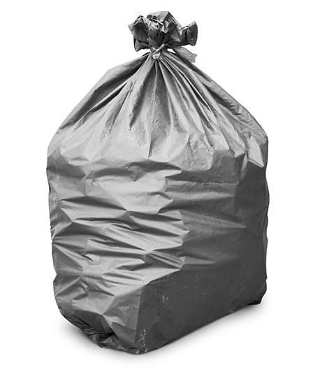 heavy duty black refuse sack